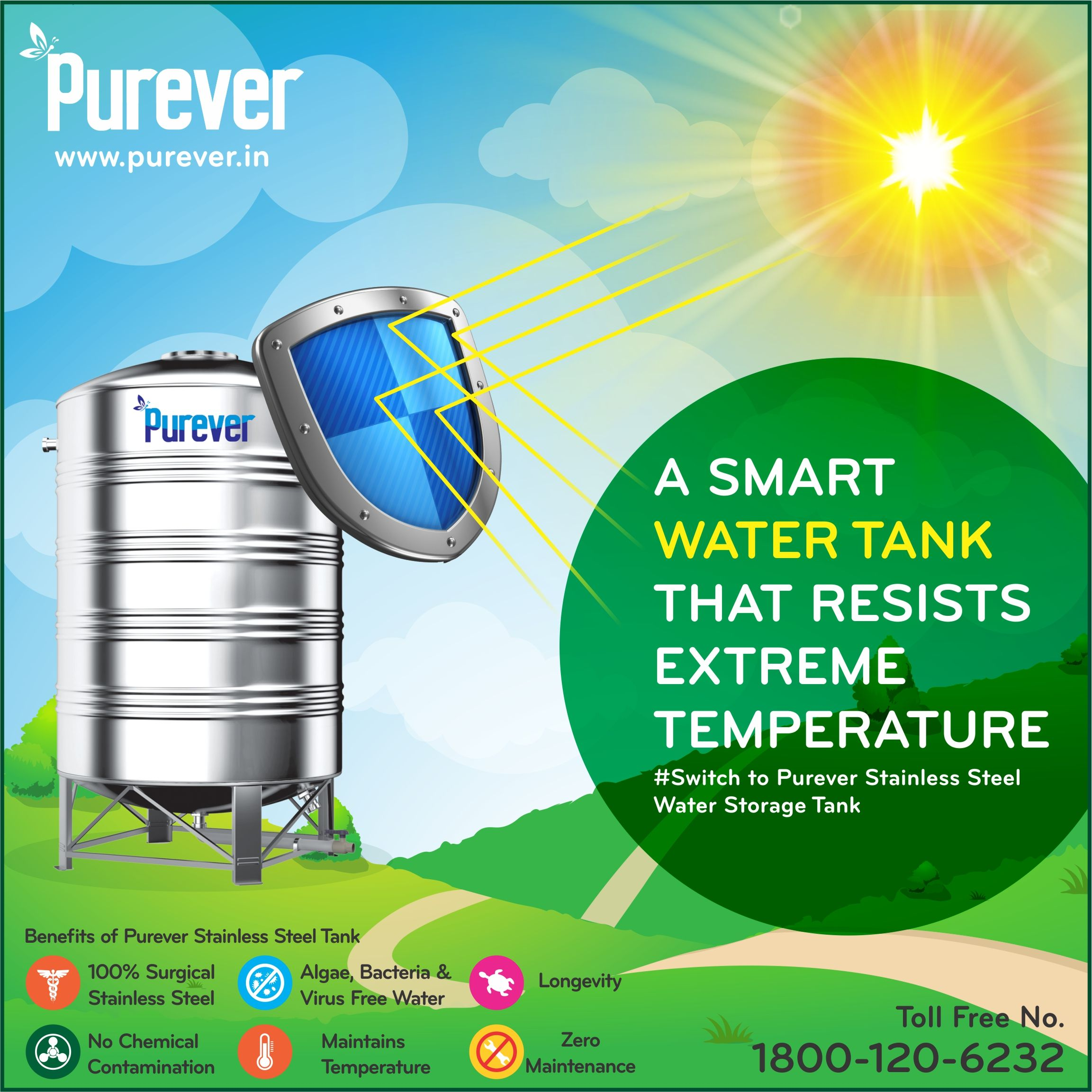 Smart Water Tank Purever Tank Resists Extreme Temperature Switch To Purever Stainless Steel Water Tank Www Purever Water Tank Steel Water Tanks Smart Water