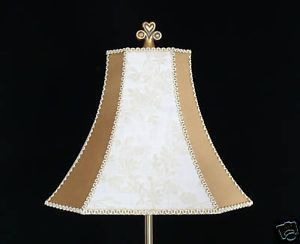 1 Elegant Cream and Gold High Quality Table Lamp Shades | Lamp ...