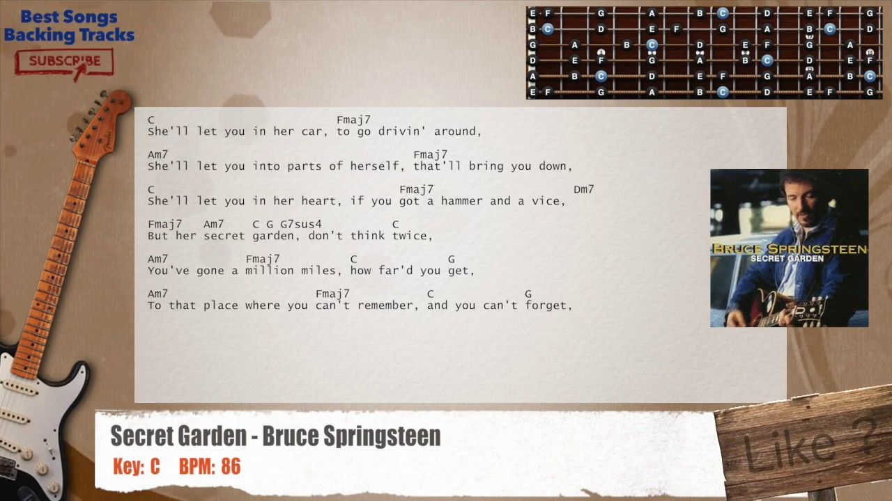 Secret Garden Bruce Springsteen Guitar Backing Track