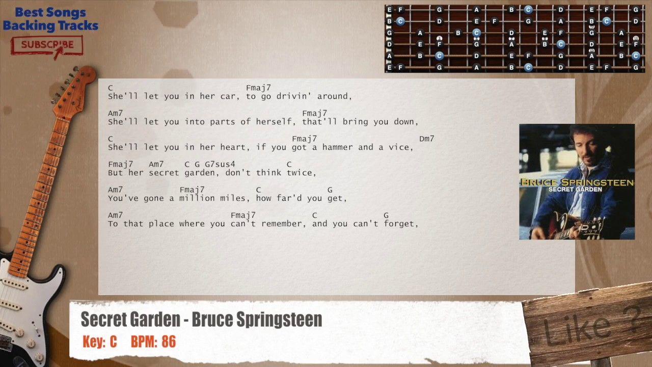 Secret Garden Bruce Springsteen Guitar Backing Track