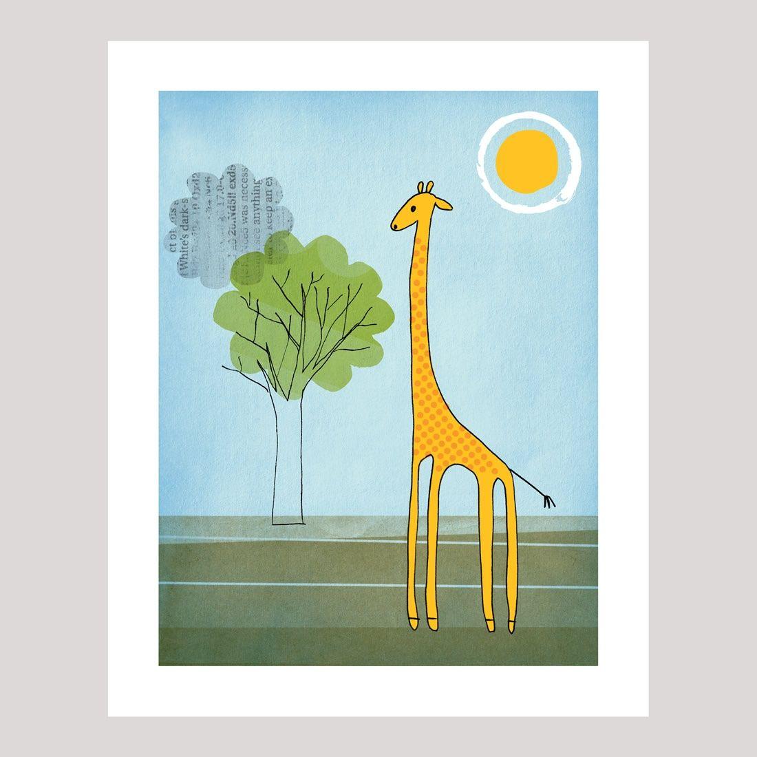 """Sunny giraffe"" art print"