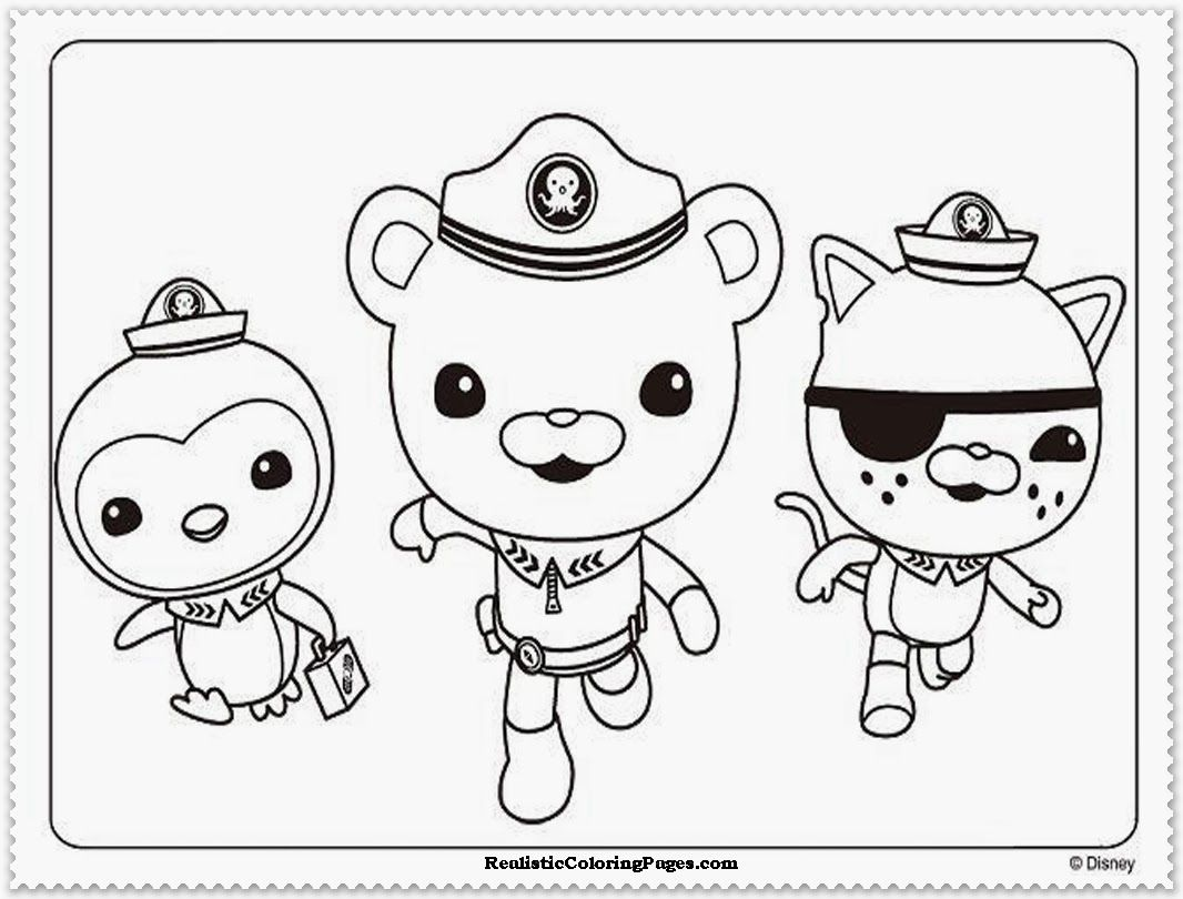 Coloring Pages To Print Octonauts Free Download