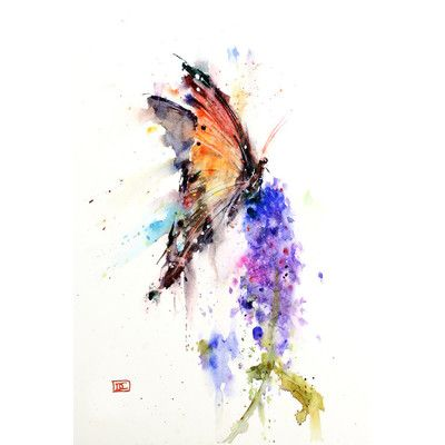 East Urban Home 'Butterfly II' by Dean Crouser Painting Print on Wrapped Canvas Size:
