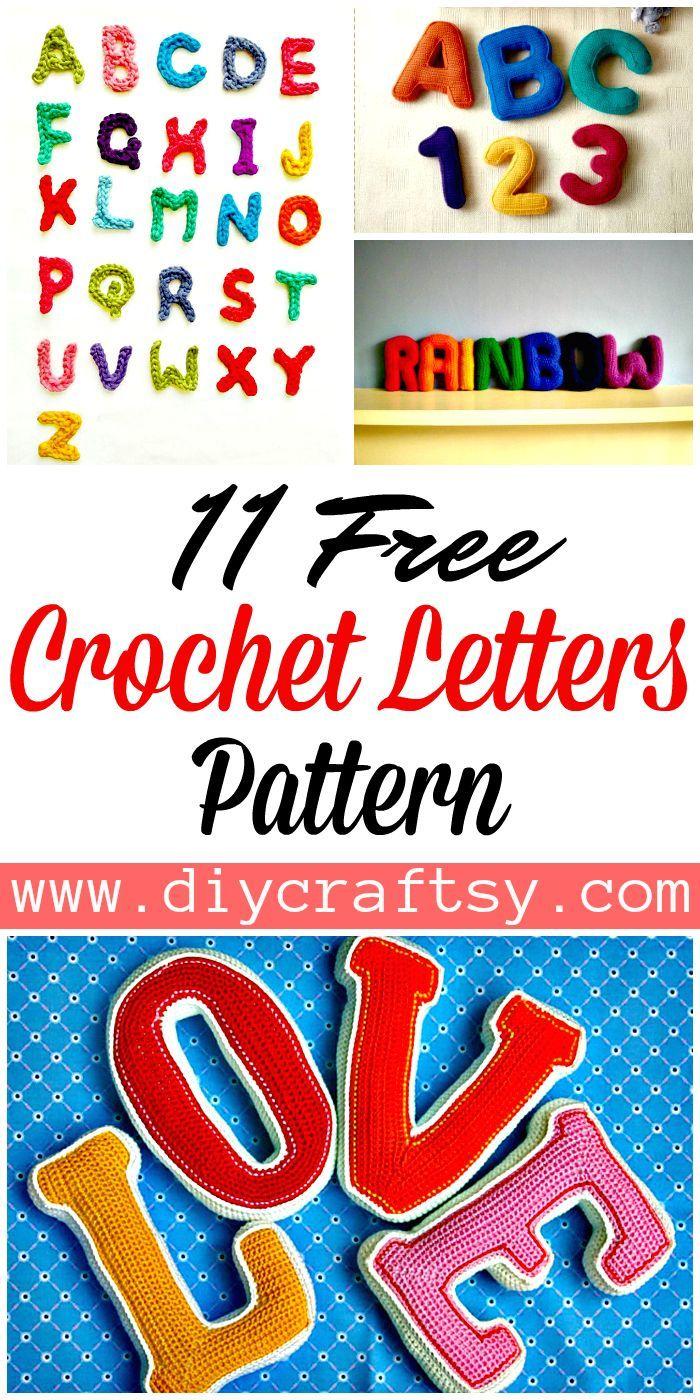 11 Free Crochet Letters Pattern | letras | Pinterest | Letras ...