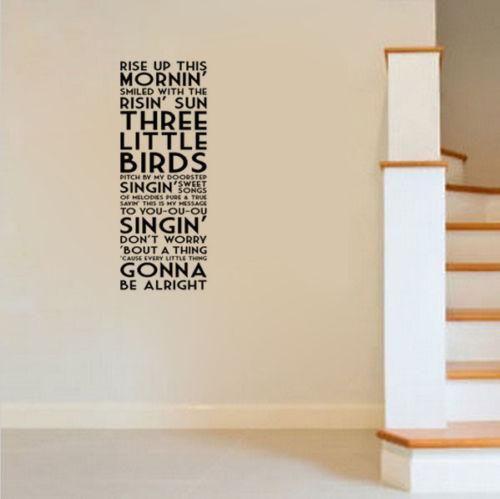 g269 bob marley three little birds song lyrics quote vinyl wall