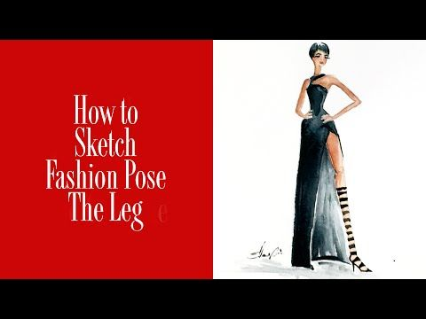 How to Sketch Fashion Pose The Leg - YouTube