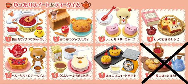 Re-Ment Miniature Sanrio San X Rilakkuma Homemade Desserts Cooking Set # 7