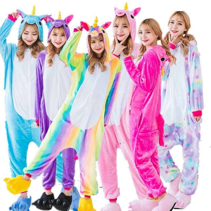 c128ea9ca2 Adults Kids pjs Animal Onesies Unicorn Pajamas Kigurumi Funny Sleepwear For  Women