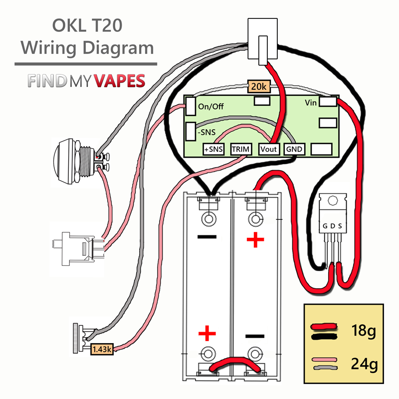 110 Schematic Wiring Instruction Diy Okl T20 Box Mod Kit Vape Diy Box Mod Vape Diy Diy