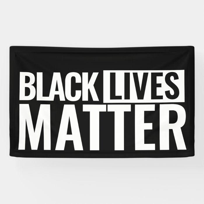 Black lives matter custom bold eyecatching Banner