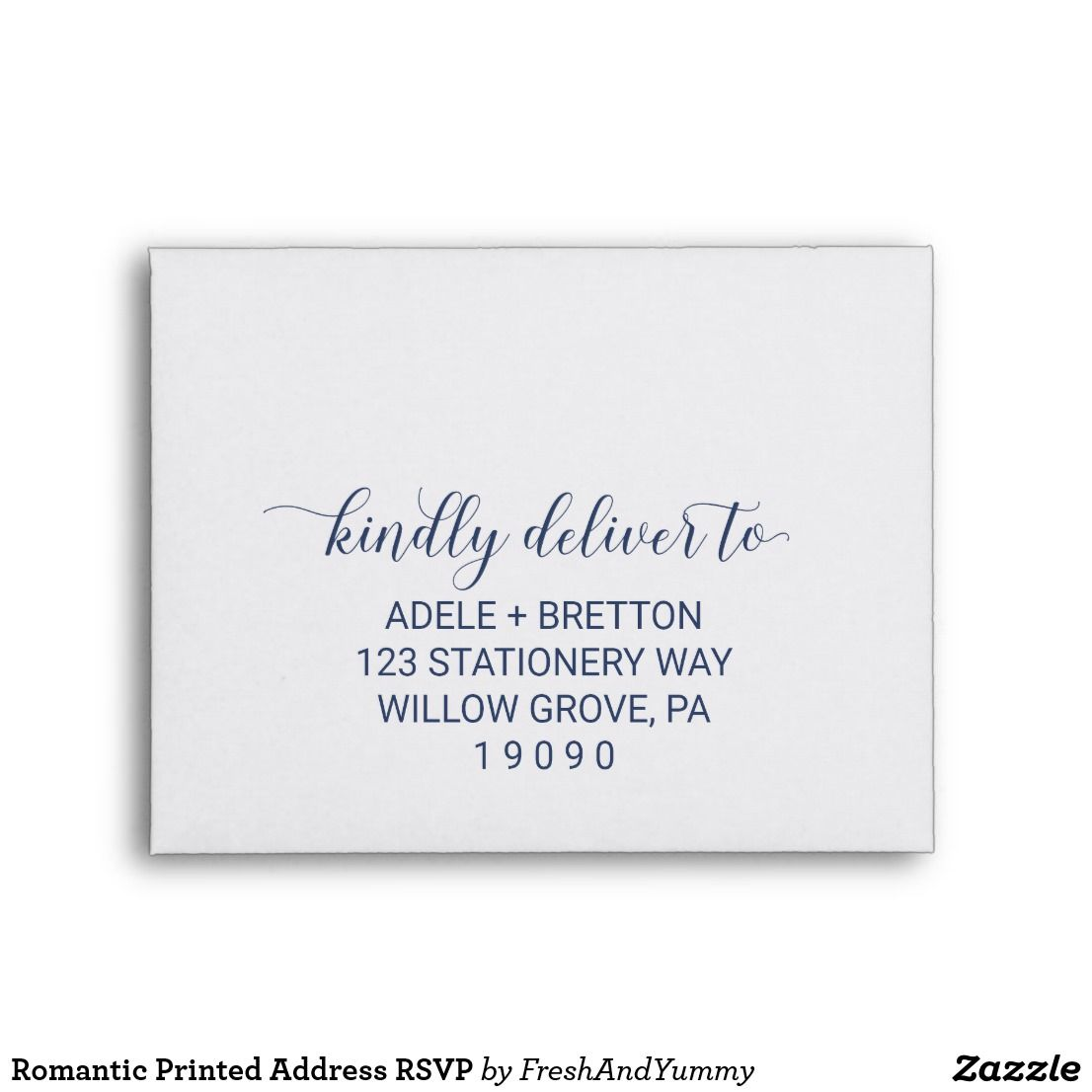 Printing Wedding Invitation Envelopes At Home: Romantic Printed Address RSVP Envelope