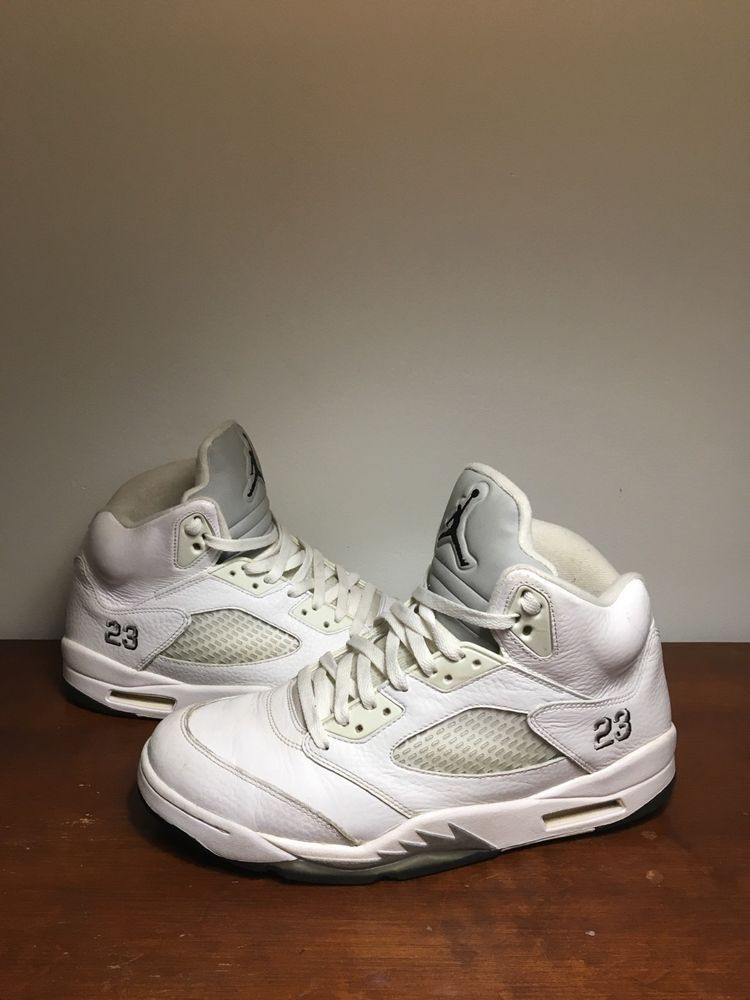 huge discount 06324 6c0e7 NIKE AIR JORDAN 5 Retro Men WHITE Size 11 Metallic Silver 136027-130  Sneakers  fashion  clothing  shoes  accessories  mensshoes  athleticshoes  (ebay link)