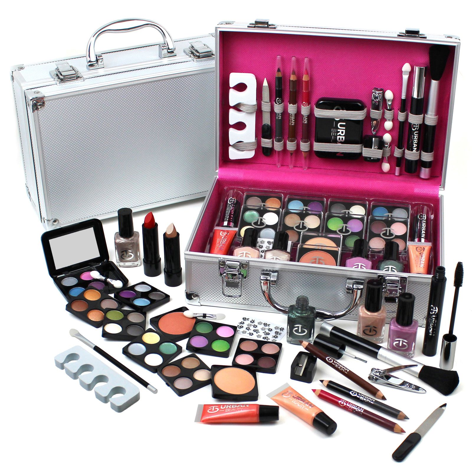 Great Vanity Case Cosmetic Make Up Urban Beauty Box Travel Carry Gift Storage 60  Piece