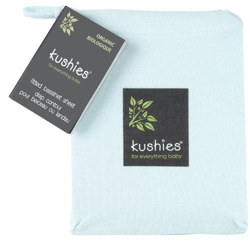Kushies Organic Jersey Bassinet Fitted Sheet, Light Blue - MORE DETAILS @ http://www.morebabystuffs.com/store/kushies-organic-jersey-bassinet-fitted-sheet-light-blue/?a=4412