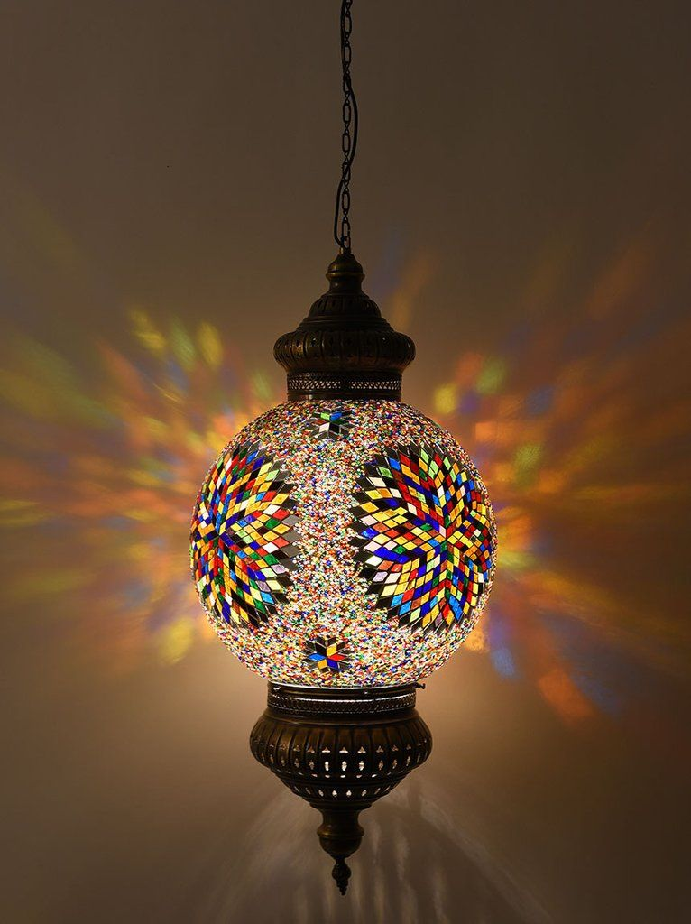 Hanging Mosaic Globe MultiColored Room lamp, Best