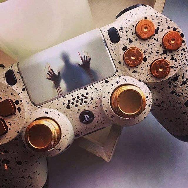 playstation 4 controller custom skin resident evil 7