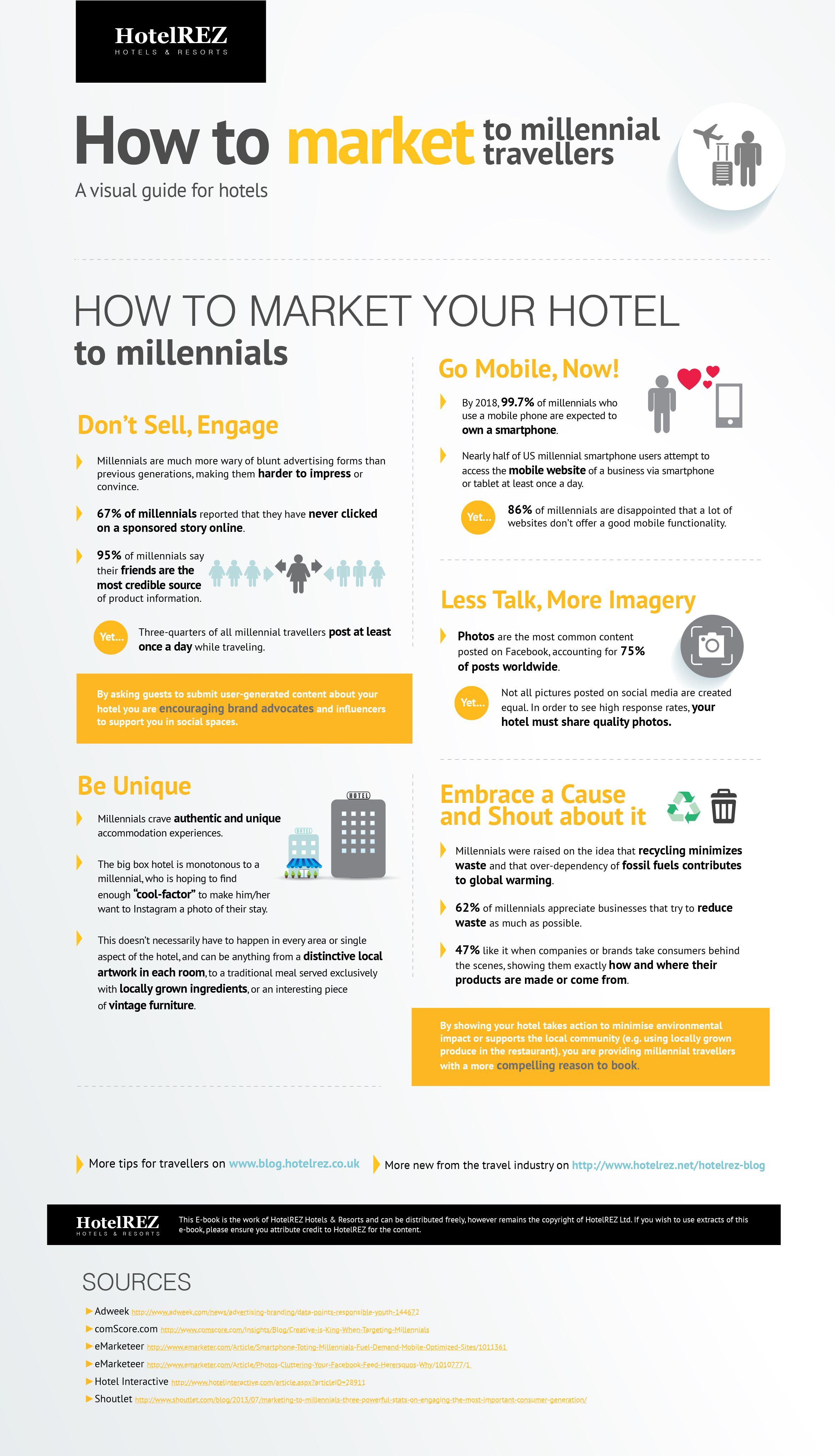 How To Market Your Hotel To Millennials Infographic With Images