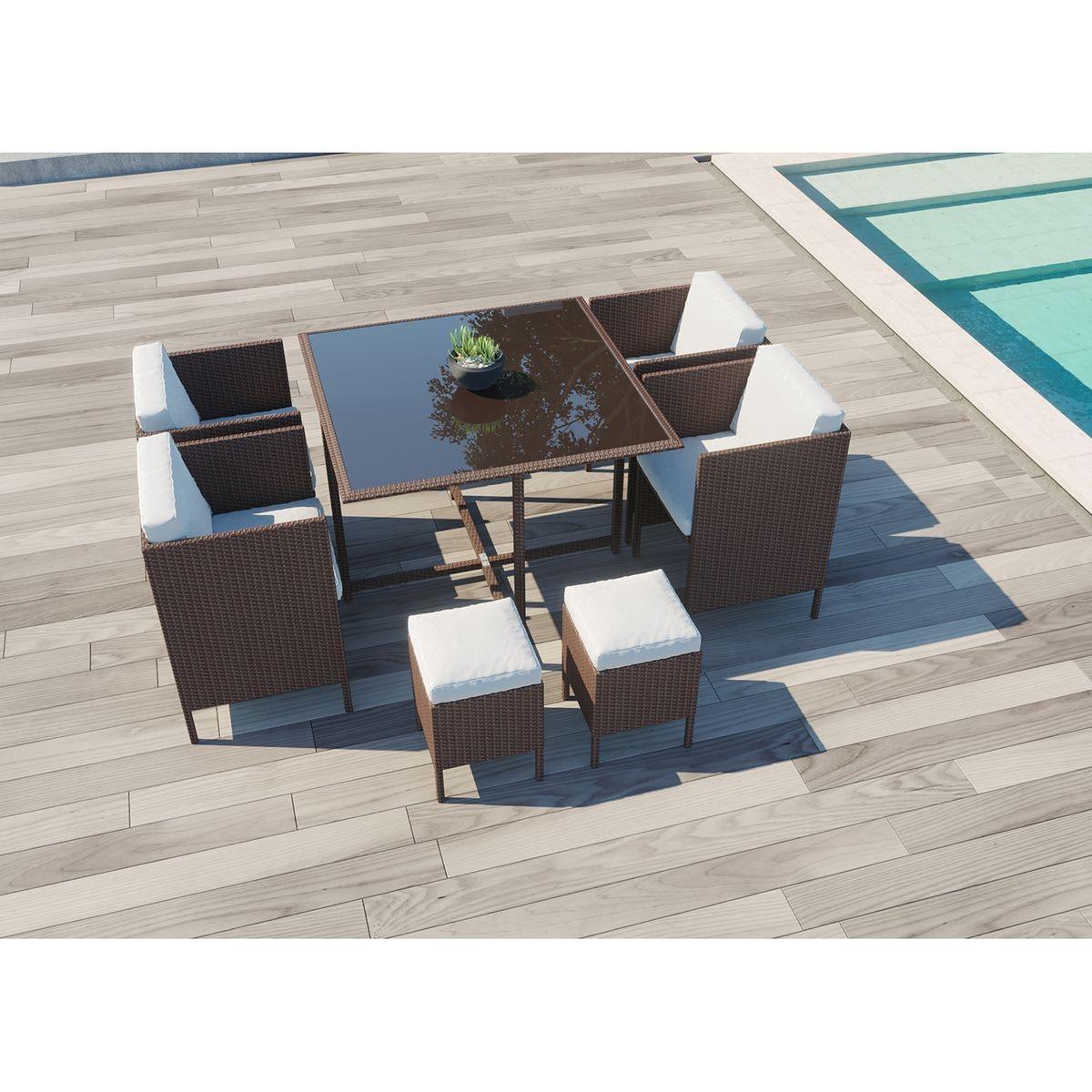 Salon De Jardin Resine Tressee 8 Places Daytona 8 Taille 8 Pers Agrement De Jardin Salon De Jardin Resine Et Salon De Jardin Encastrable