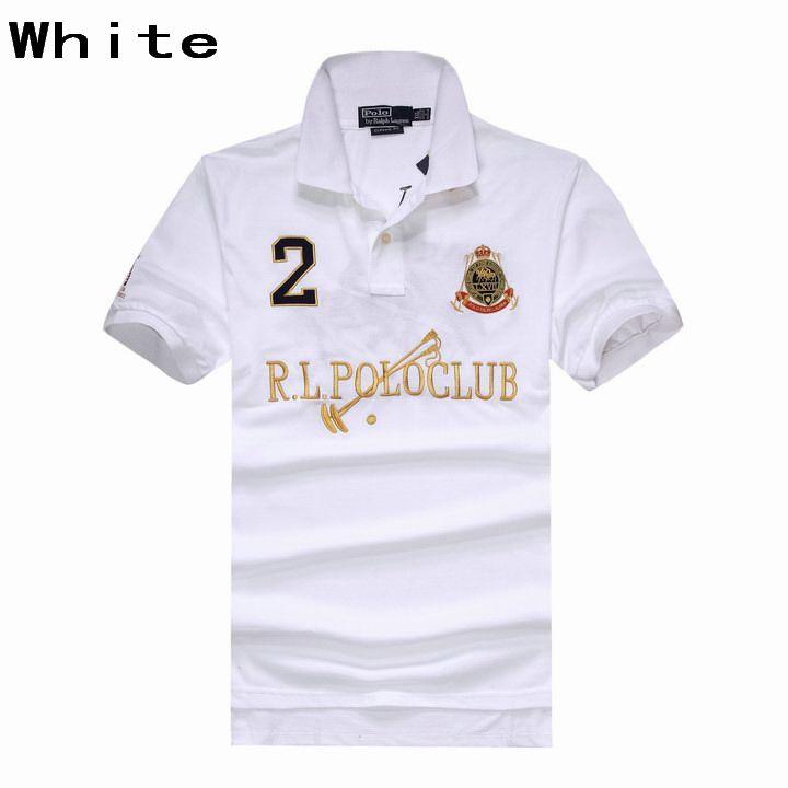 edd40faa4bbb Ralph Lauren Men RL Polo Club Dual Match Ribbed Polo Collar White ...