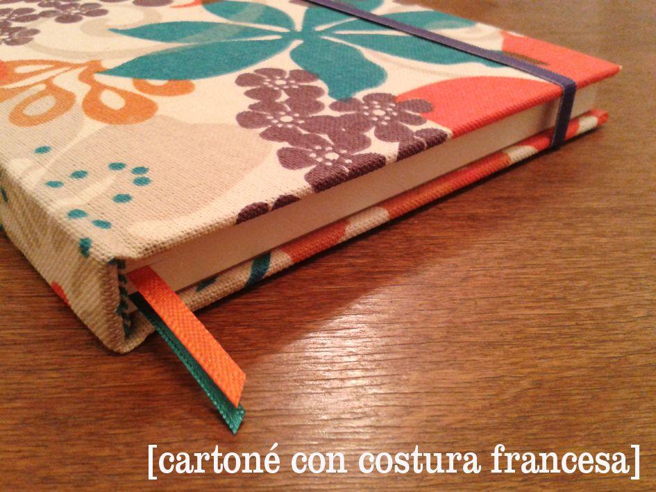 cartoné con costura francesa. taller de encuadernación artesanal  + info: tiendadecuadernos@gmail.com
