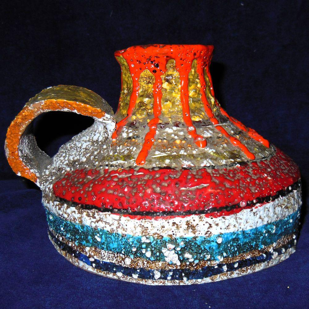 Vaso Ceramica Maiolica Artistica Mamma Ro 039 Made Italy Decorato Mano Anni 60 B141 Decor Home Decor Pitcher