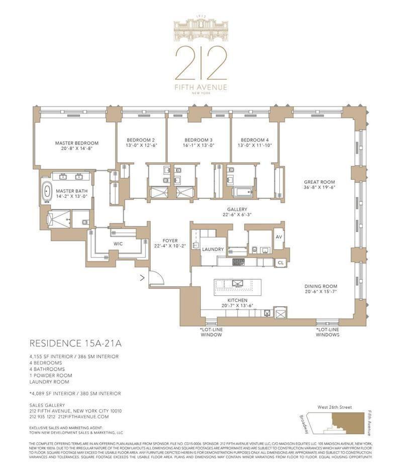 212 Fifth Ave 17a In Nomad Manhattan Streeteasy Penthouse Apartment Floor Plan Apartment Floor Plans Craftsman Floor Plans