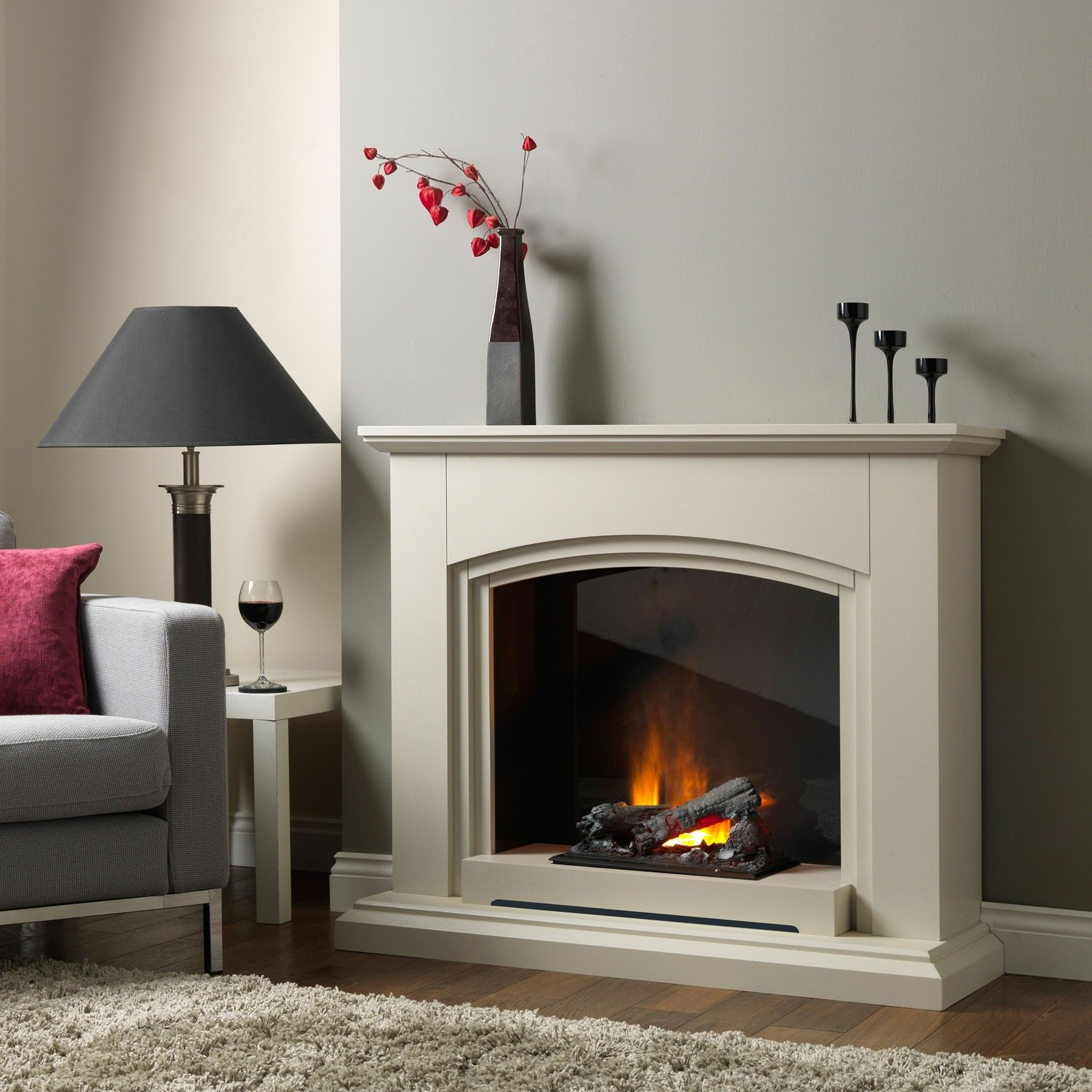 siena sandstone electric fireplace suite lounge pinterest
