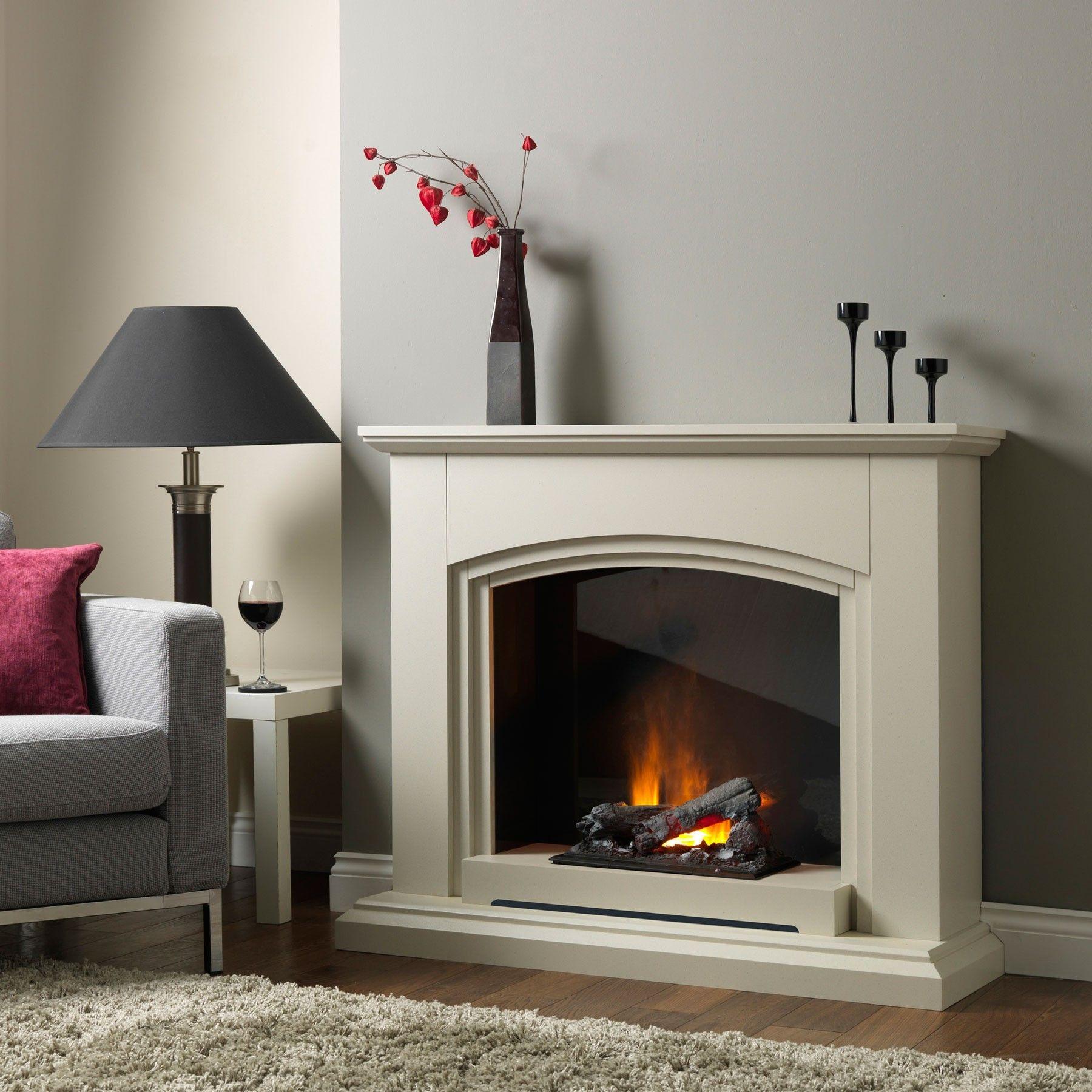 Siena sandstone electric fireplace suite mum pinterest