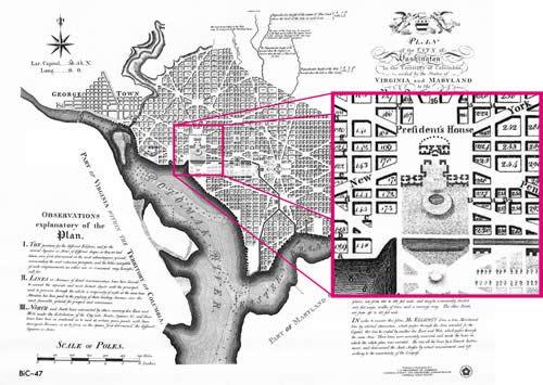 Washington DC Architect LEnfant Maps Pinterest Washington