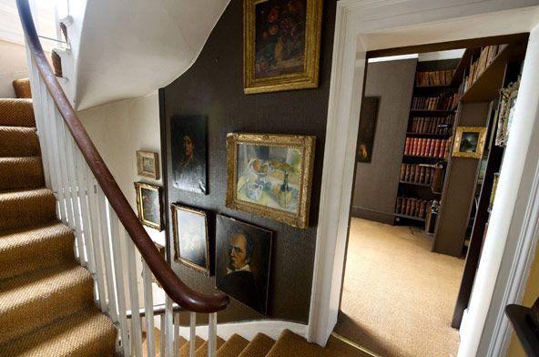 Stairway in Georgian house Portsea Place London Interiors