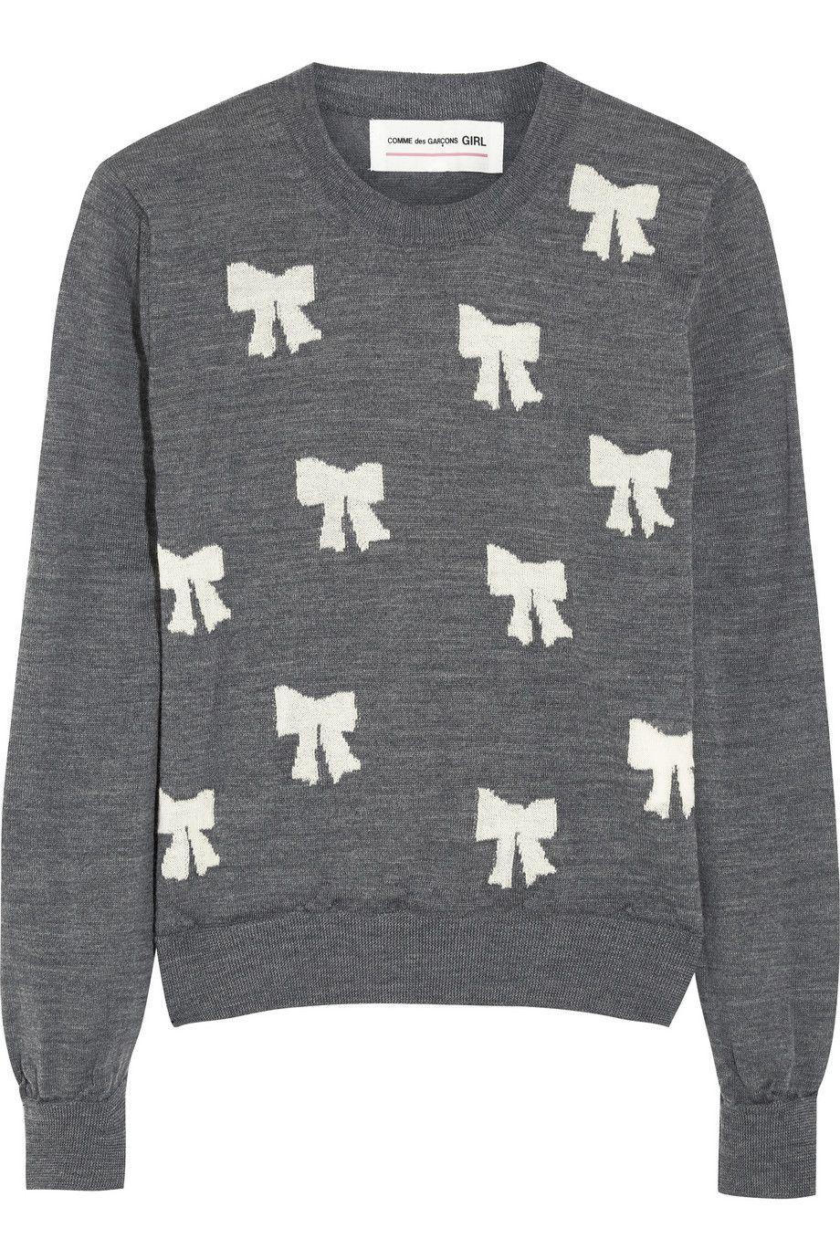 Porter Girl Intarsia Wool A Comme Net Des Sweater Garçons Bow pqwWnxEzOg