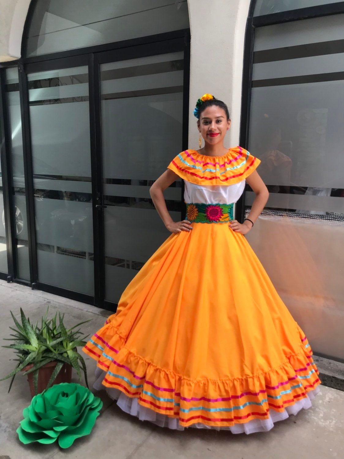 Mexican Dress With Top Handmade Beautiful Frida Kahlo Etsy Mexican Dresses Dresses Frida Kahlo Style [ 1500 x 1124 Pixel ]
