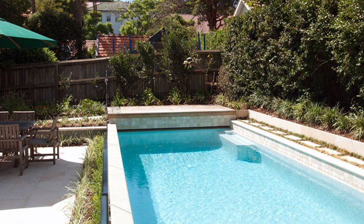 Inground pools with retaining walls pools pool builder for Concrete pool builders