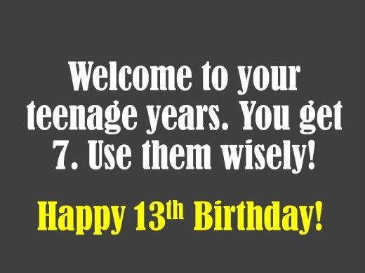 13th Birthday Wishes What To Write In A Card