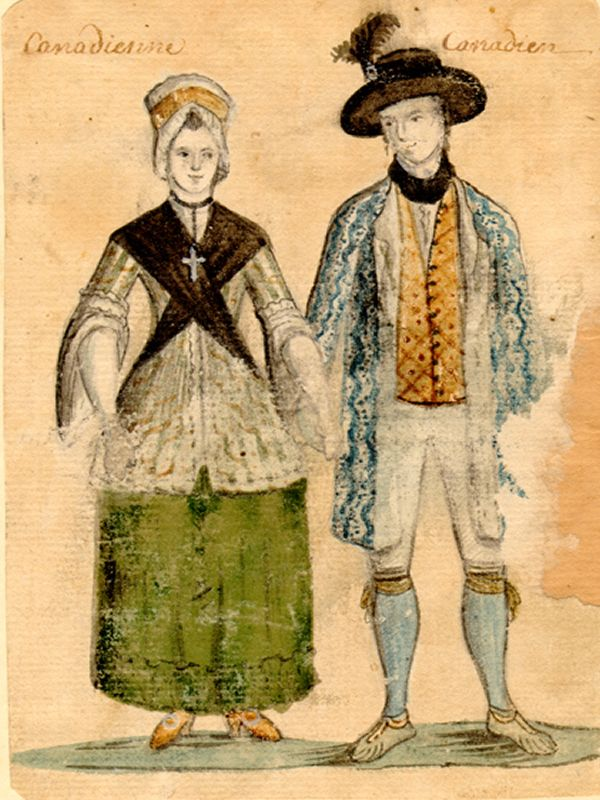 Fashion In New France 1700 1750 18 Century Art 18th Century Costume Canadian History