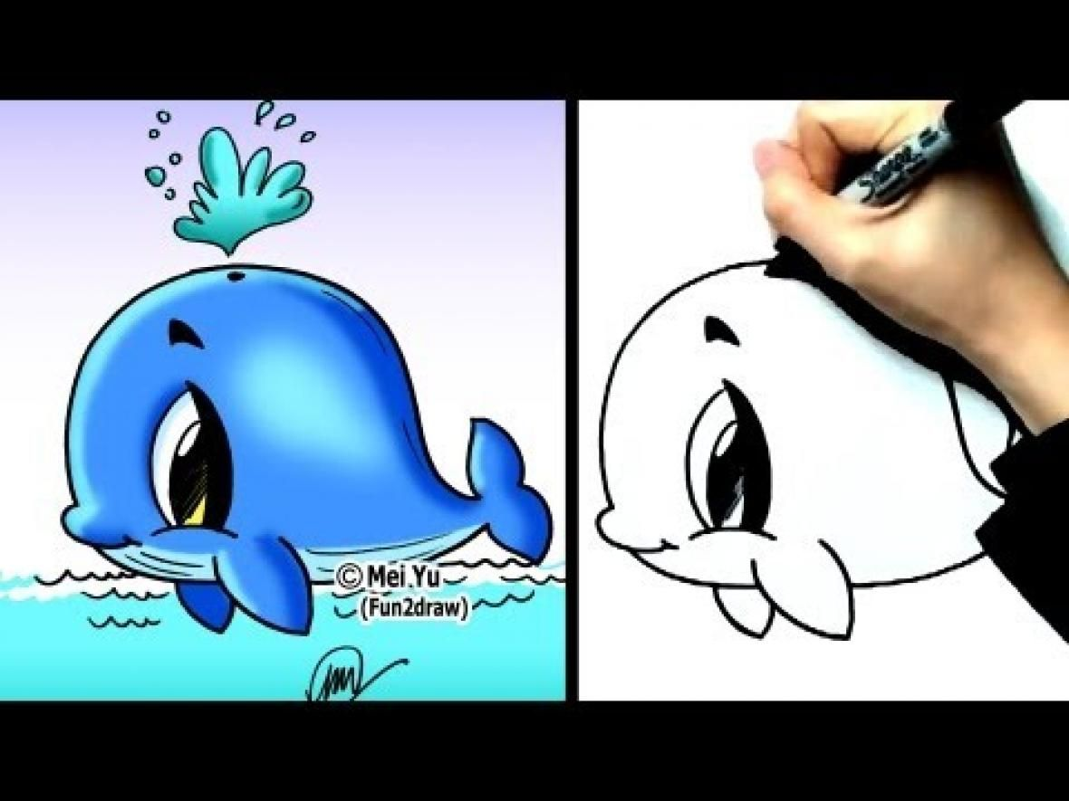 Fun2draw animals how to draw cute cartoons how to draw for Fun to draw cute animals