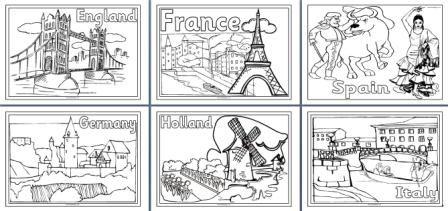 Kleurplaten Posters Van Europese Steden Free Download Teaching Geography World Geography Geography