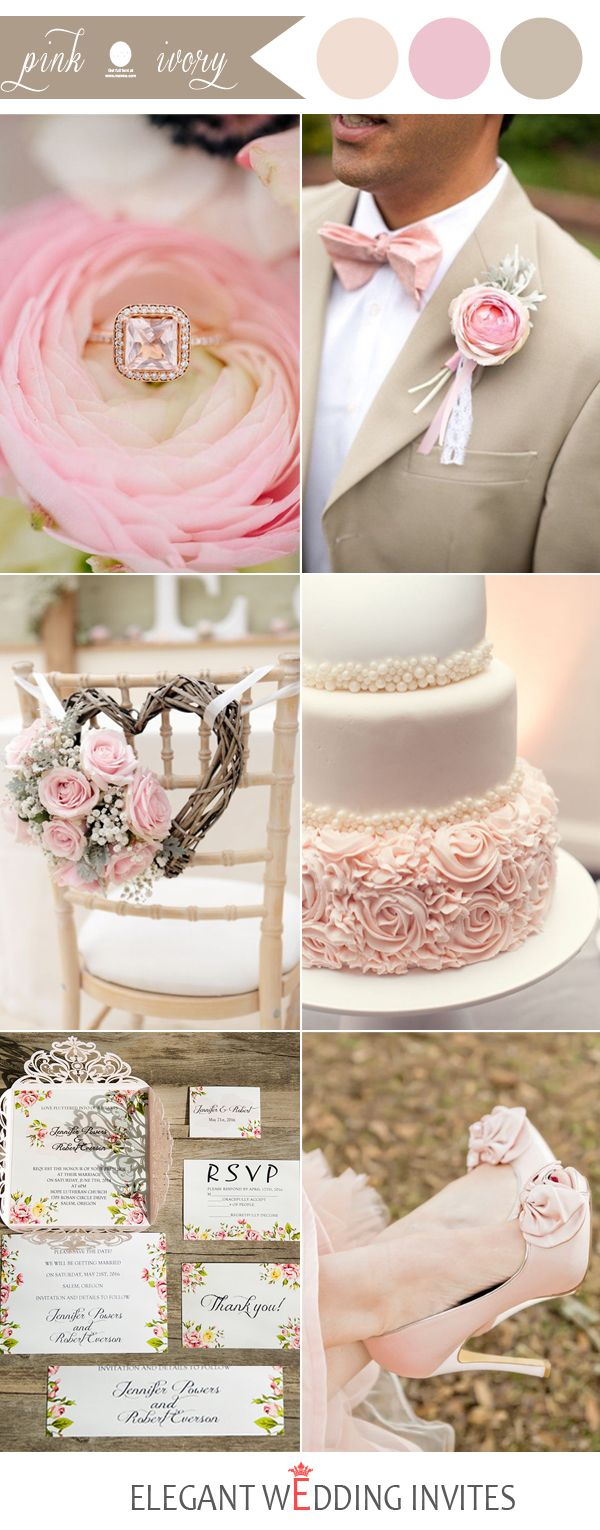 48 Perfect Pink Wedding Color Combination Ideas | Wedding Colors ...