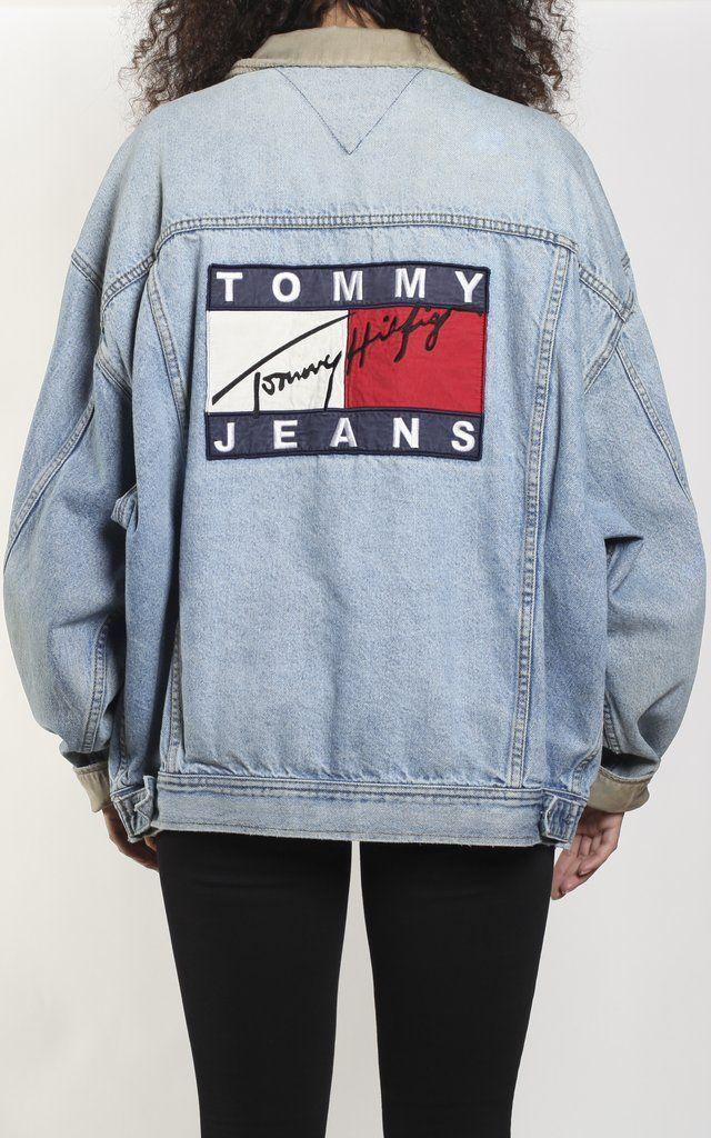 043a1aa473e01 Vintage Tommy Hilfiger Denim Jacket