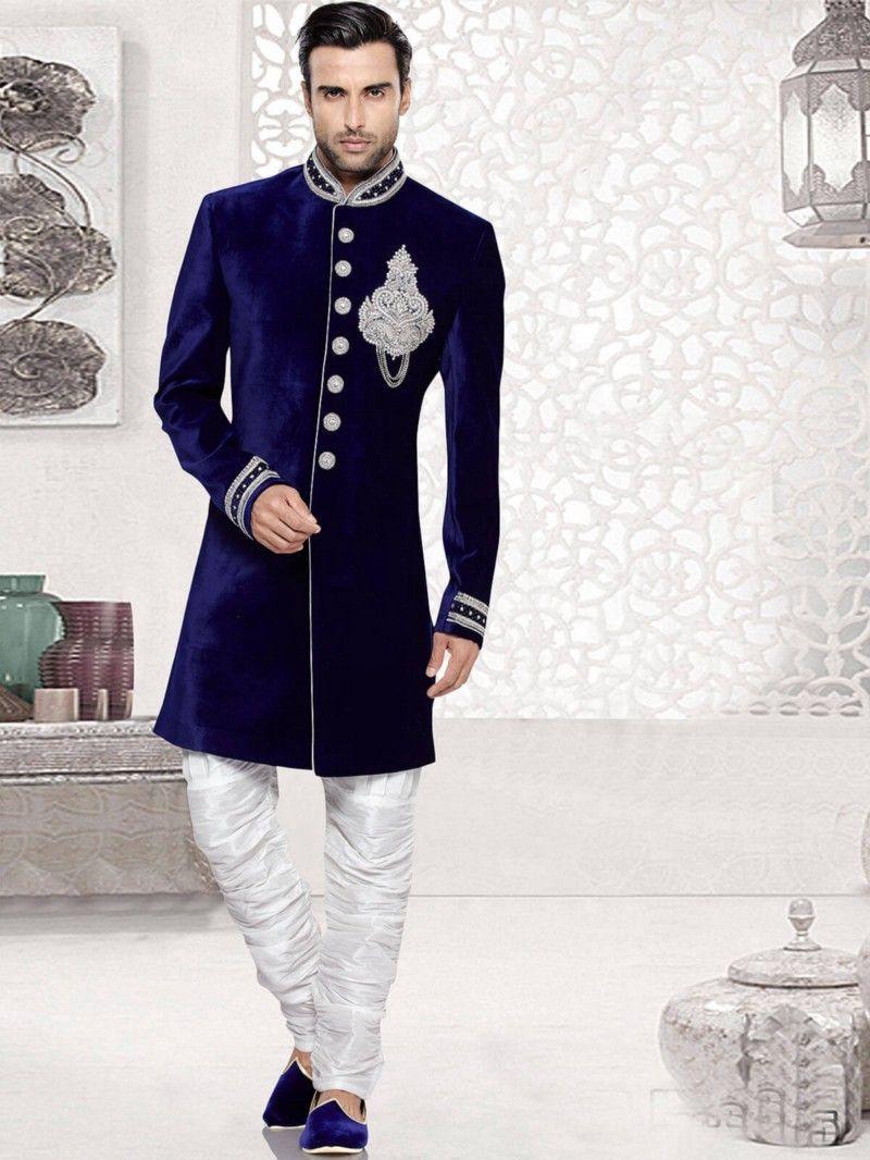 7af60603e66 Make A Style Statement This Wedding Season With Velvet Kurta Pyjama ...
