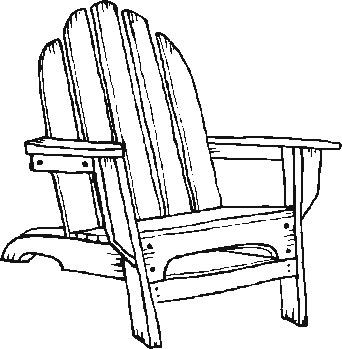Beach Chair Coloring Pages garden chair Colouring Pages