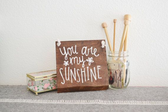 You are my Sunshine Rustic Wood Sign Home by LittleFlockDesigns