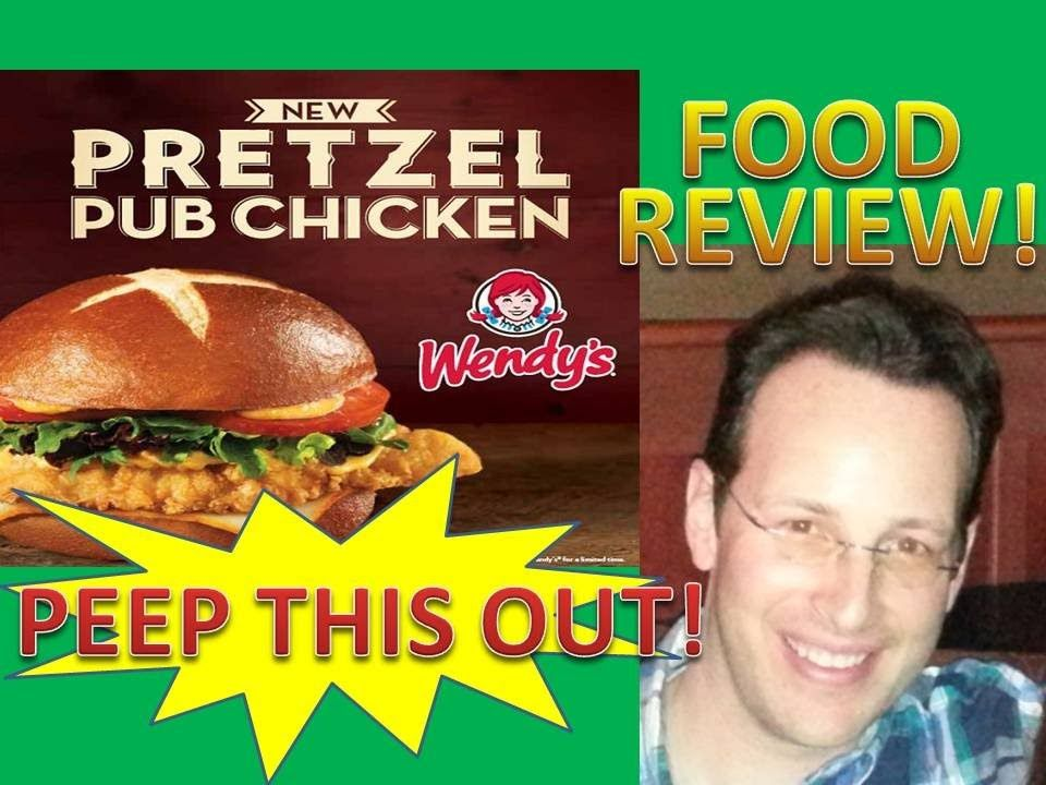 Wendy's Pretzel Pub Chicken Sandwich Review! Peep THIS Out!  Wendy's New Pretzel Pub Chicken Sandwich is looking to kick things up a notch with a warm soft pretzel bun housing a meaty chicken breast, cheddar cheese sauce, honey mustard, muenster cheese and greens!  How sexy for your face is it?  Only one way to find out!  Peep THIS Out!  Go Hands-on up close and personal to see how delicious it really is!
