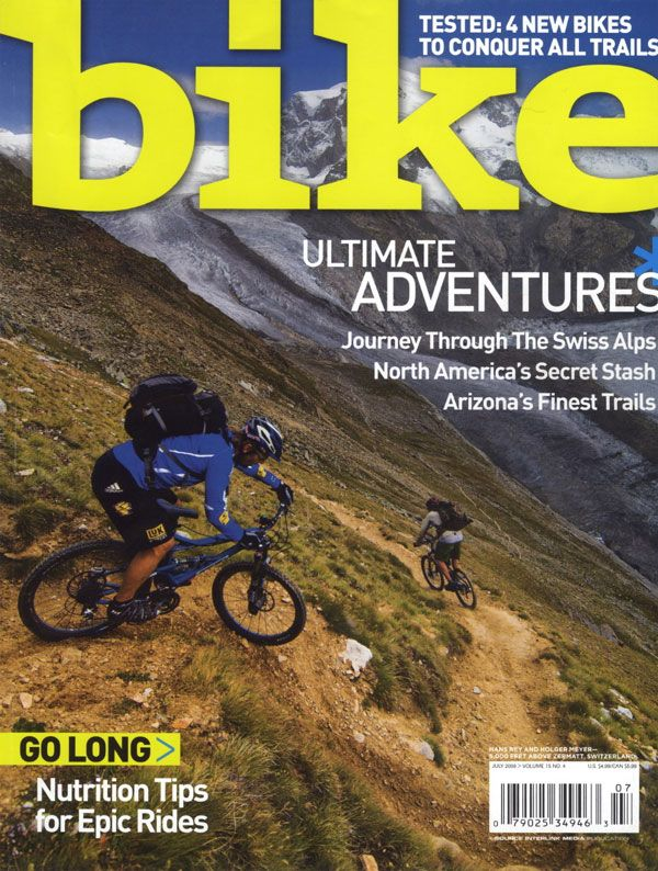 Bike Magazine Mountain Bike Cover With An Adventure Image Over A