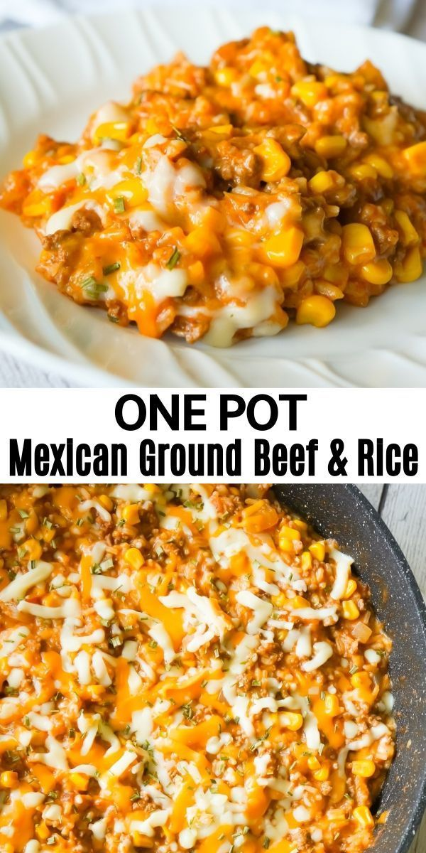 Photo of How to Make One Pot Mexican Ground Beef and Rice