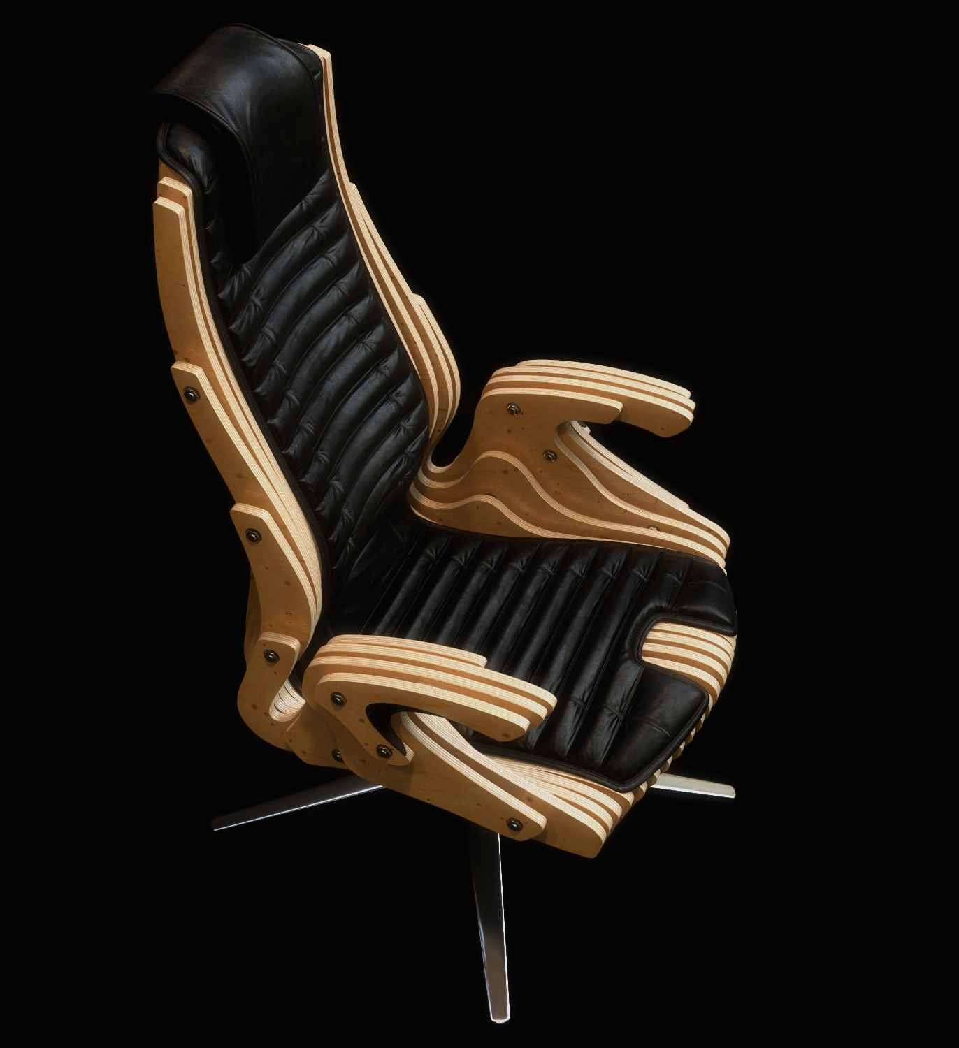 the concept of an office chair in the style of parametric