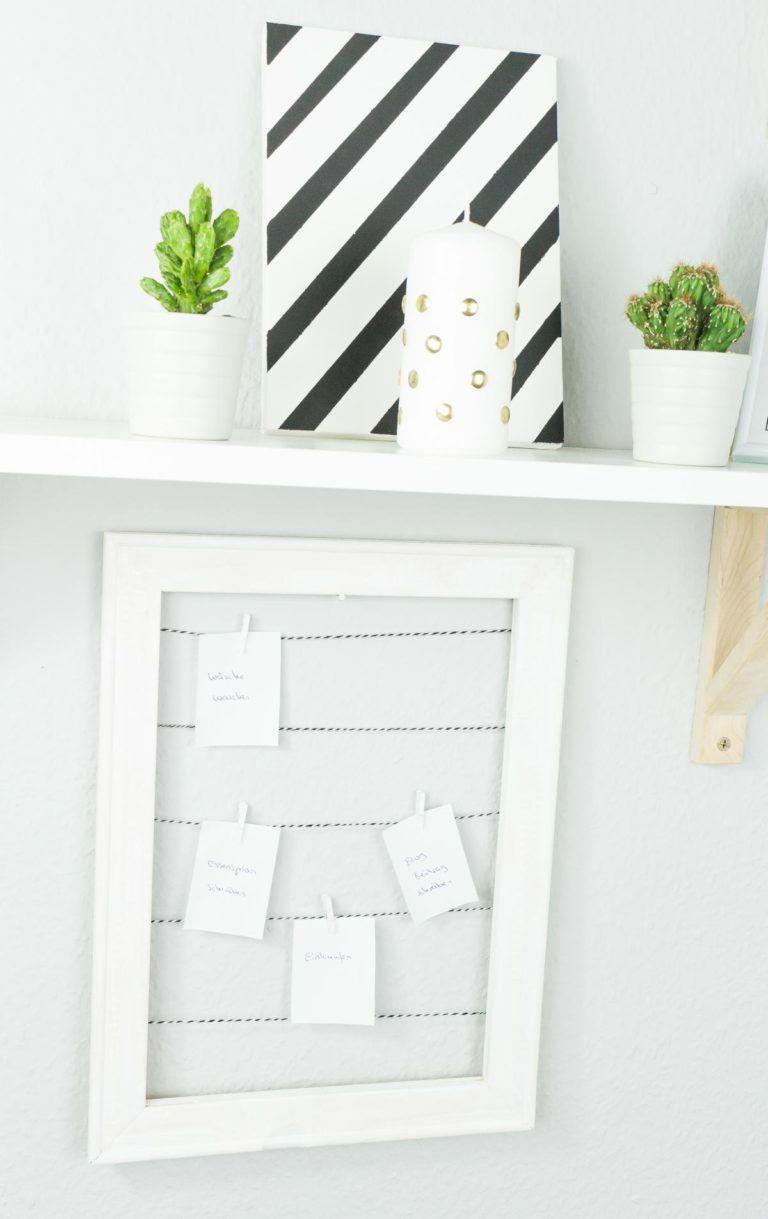 DIY Pinnwand aus Holzrahmen basteln - schnelle Upcycling Idee ...
