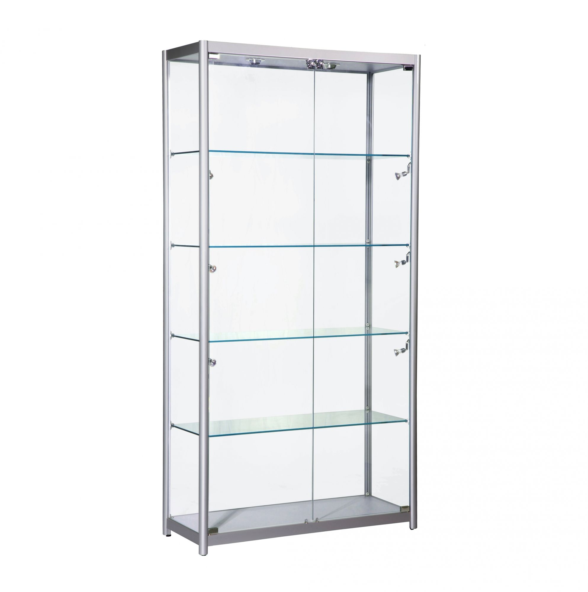 Glass · Wide Glass Showcase Cabinet