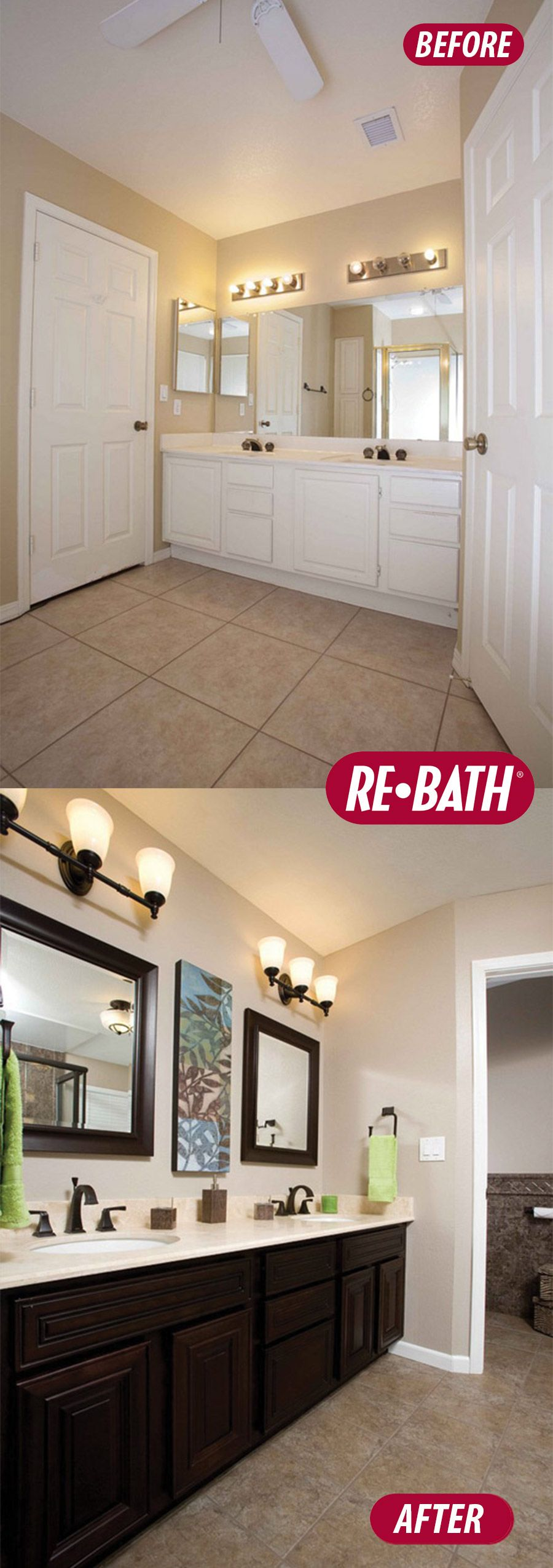 rebath bathroom remodel before and after vanity