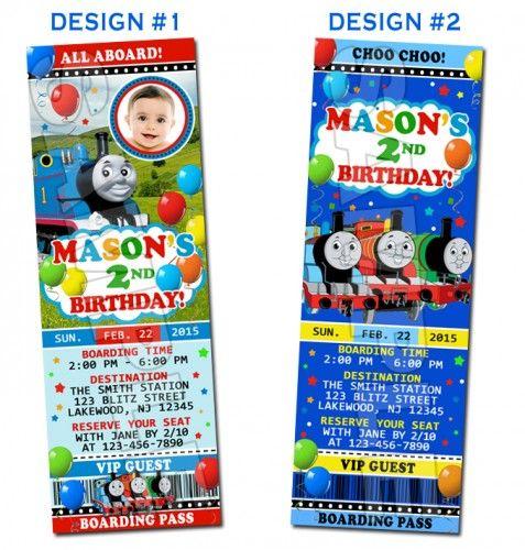 Thomas The Tank Train Photo Birthday Party Invitations Printable - Birthday invitation card thomas and friends